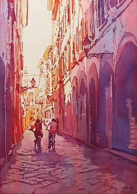 Cycle Painting - Italian Heat by Jenny Armitage