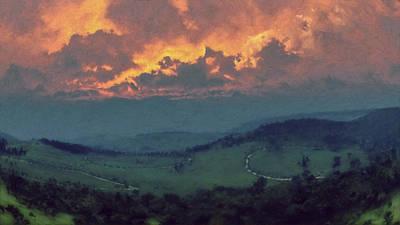 Italian Hills Sunset Original by Lonnie Christopher