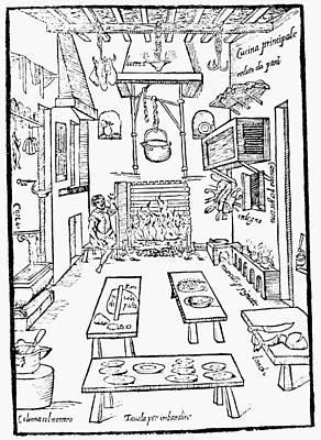 Italian Kitchen, 1570 Print by Granger