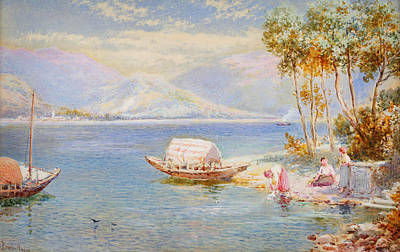 Jacques Painting - Italian Lake by Celestial Images