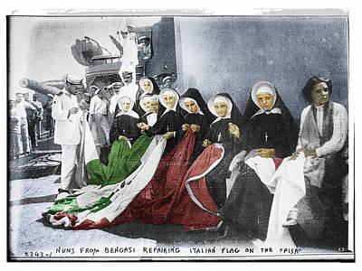 Interior Scene Mixed Media - Italian Nuns by Tony Rubino