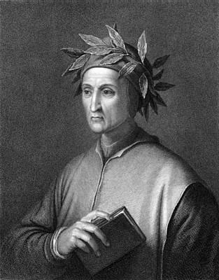 Engraving Photograph - Italian Poet Dante Alighieri by Underwood Archives
