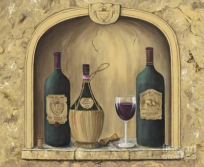 Bottle Of Wine Painting - Italian Reds by Marilyn Dunlap