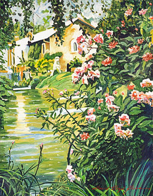 Pink Painting - Italian River by David Lloyd Glover