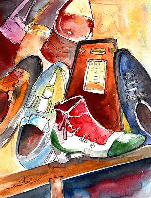Tuscany Drawing - Italian Shoes 04 by Miki De Goodaboom