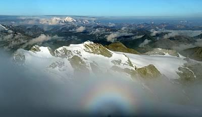 Italian-swiss Alps Print by Martin Rietze