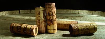 Italian Wine Corks Print by Jon Neidert