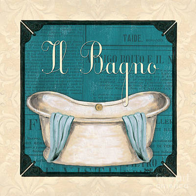 Italianate Bath Print by Debbie DeWitt