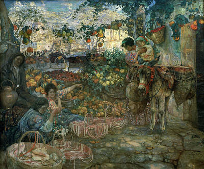 Italy, 1911 Oil On Canvas Print by Isaak Israilevich Brodsky