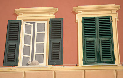 Realistic Photograph - Italy, Camogli A Window Painted by Jaynes Gallery