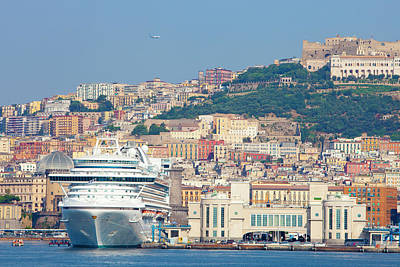 Napoli Photograph - Italy, Campania, Napels - Port by Panoramic Images