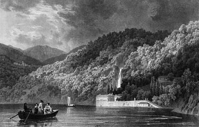 Lake Como Painting - Italy Lake Como, 1838 by Granger