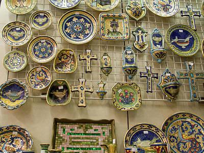Mosaic Photograph - Italy, Ravenna A Wall Of Mosaic by Jaynes Gallery