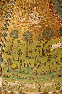 Mosaic Photograph - Italy, Ravenna Mosaic Depicting Moses by Jaynes Gallery