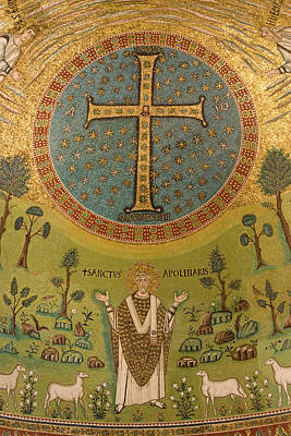 Mosaic Photograph - Italy, Ravenna Mosaic Depicting St by Jaynes Gallery