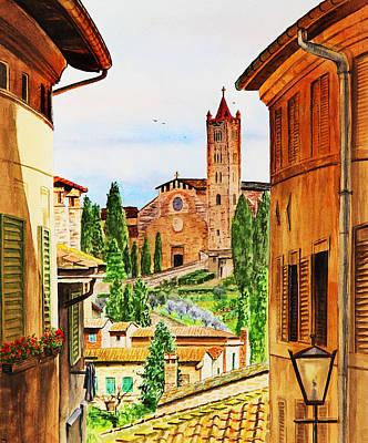 Burnt Sienna Painting - Italy Siena by Irina Sztukowski