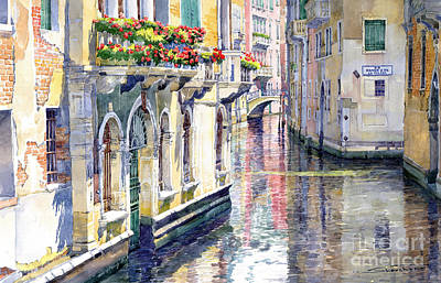 Historic Architecture Painting - Italy Venice Midday by Yuriy Shevchuk