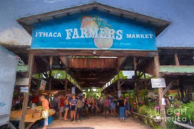 Ithaca Farmer's Market Print by Michele Steffey