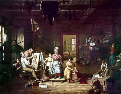 Interior Scene Painting - Itinerant Painter, C1815 by Granger