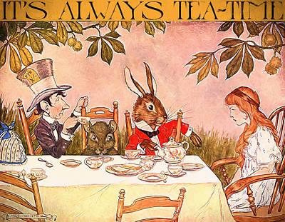 March Hare Mixed Media - It's Always Tea-time by John K Woodruff