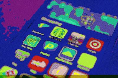 Phone Painting - It's An App World by Florian Rodarte