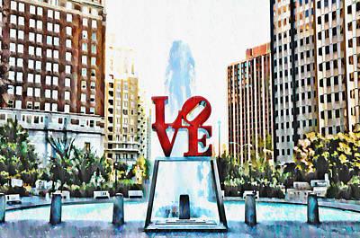 Love Park Digital Art - It's Only Love by Bill Cannon
