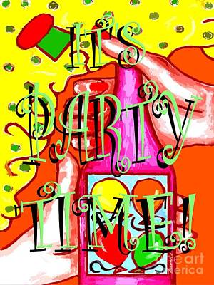 Party Card Mixed Media - It's Party Time by Patrick J Murphy