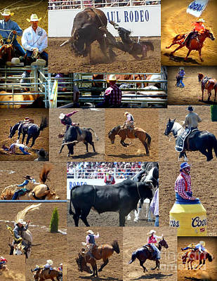 Of Rodeo Bucking Bulls Photograph - Its Rodeo Time  by Susan Garren