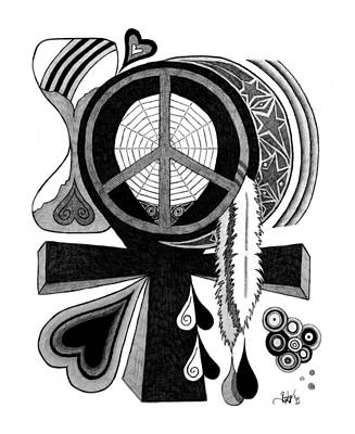Hourglass Drawing - It's Time by Barb Cote