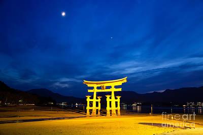 Miyajima Photograph - Itsukushima Shrine On Miyajima Island Japan by Fototrav Print