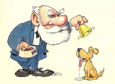 Ivan Pavlov Caricature Print by Science Photo Library
