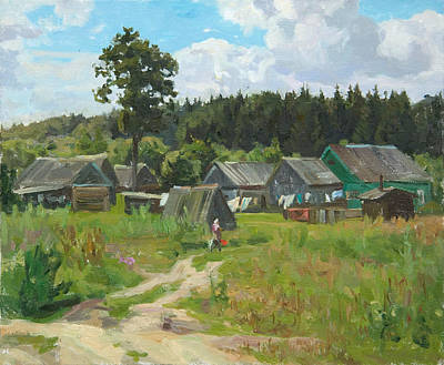 Russia Painting - Ivankovo Village by Victoria Kharchenko