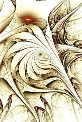 Ivory Bird Print by Anastasiya Malakhova