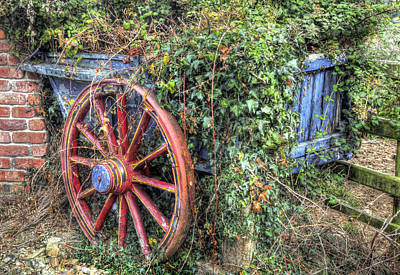 Cartwheel Photograph - Ivy Covered Cart by Mal Bray