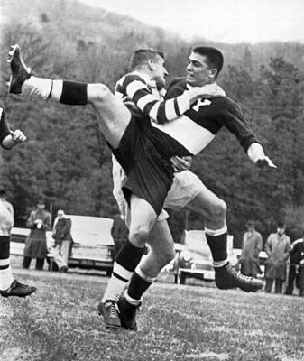 Rugby Photograph - Ivy League Rugby Match by Underwood Archives