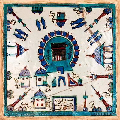 Ceramic Tile Photograph - Iznik Kaaba by Rick Piper Photography