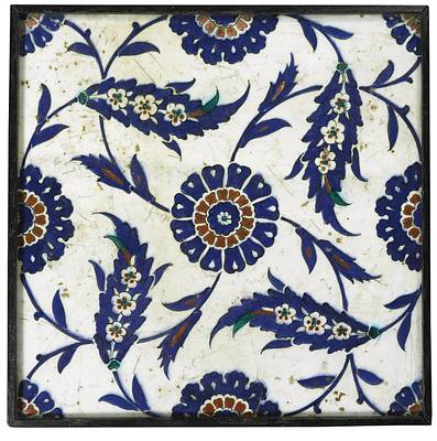 Jihad Painting - Iznik Tile by Celestial Images
