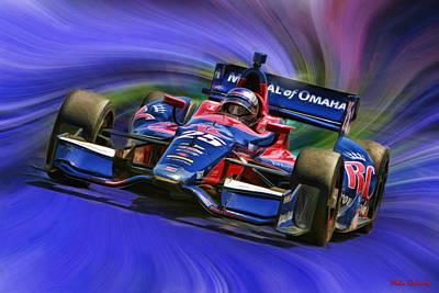 Izod Indycar Series Marco Andretti  Print by Blake Richards