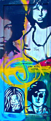 Conscious Painting - J Is A Magic Letter by Tony B Conscious