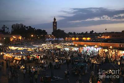 J Ma Fna Place Marrakesh Print by Sophie Vigneault