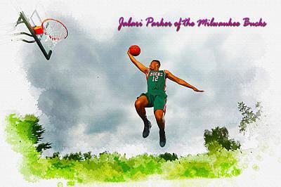 Jabari Parker Of The Milwaukee Bucks Original by Don Kuing