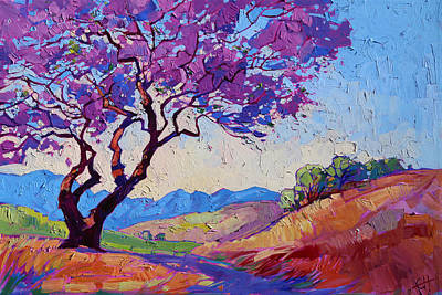 Book Cover Painting - Jacaranda by Erin Hanson