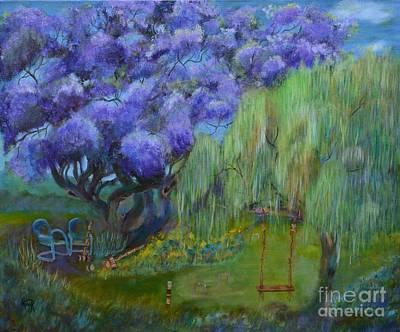 Jacaranda Painting - Jacaranda Joy by Lynn Rattray