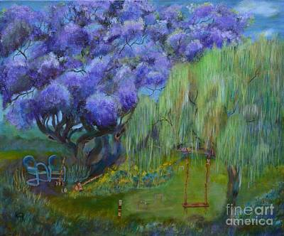 Jacaranda Tree Painting - Jacaranda Joy by Lynn Rattray