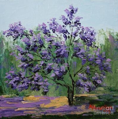 Jacaranda Tree Painting - Jacaranda by Kathy Houghton