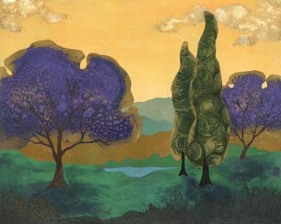 Jacaranda Tree Painting - Jacarandae by Fred Chuang