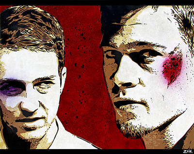 Stencil Art Painting - Jack And Tyler by Bobby Zeik