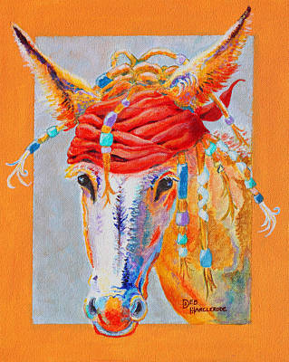 Jack's Back - Burro - Donkey Original by Deb  Harclerode
