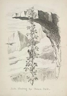Jack Climbing The Bean Stalk Print by British Library