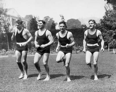 Jack Dempsey Photograph - Jack Dempsey Works Out by Underwood Archives